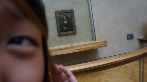 Selfie with the Mona Lisa